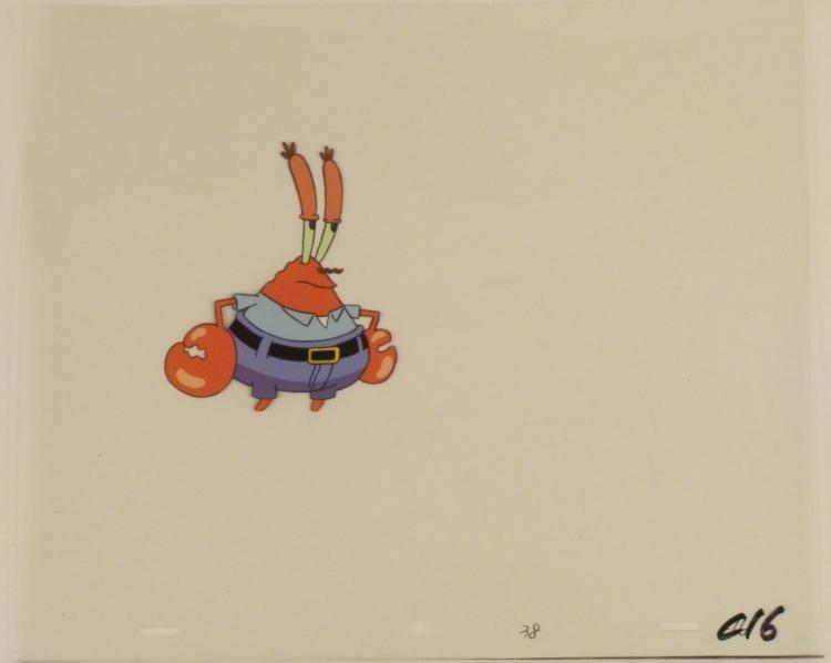 Spongebob Production Art Displeased Original Cel