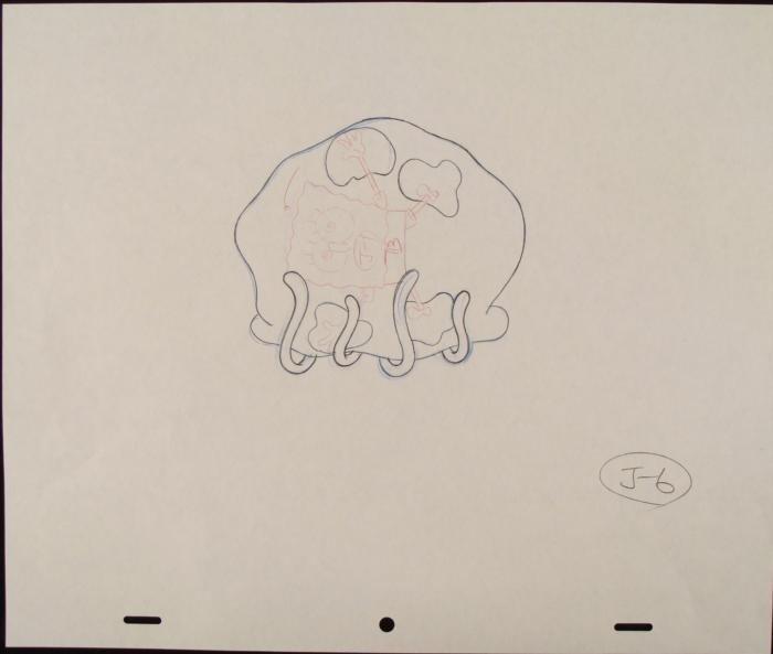 Drawing Spongebob Original Stuck Production Art