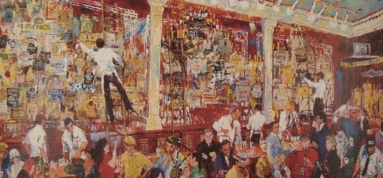 LeRoy Neiman Collage Art Print Mcrory's Bar