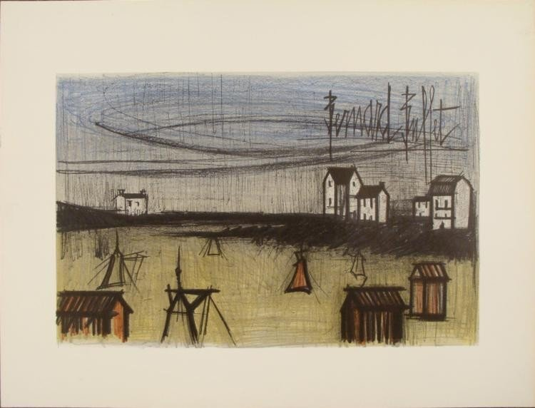 Bernard Buffet : A Small Beach Art Print
