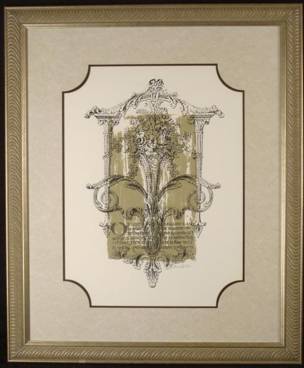 Wedding Bouquet Garden Signed Large Framed Art Print