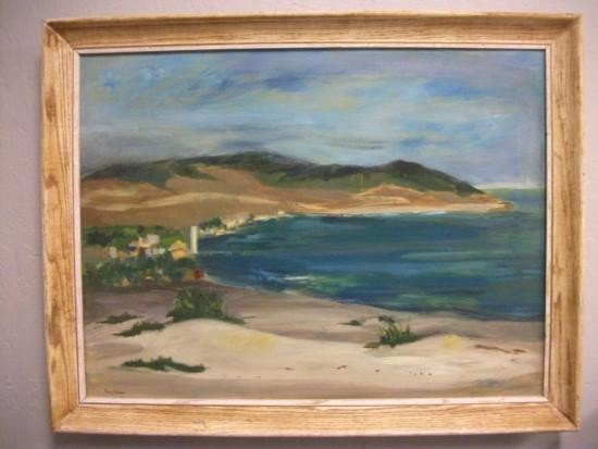 Antique Coastal Oil Signed - TUNIS PONSEN