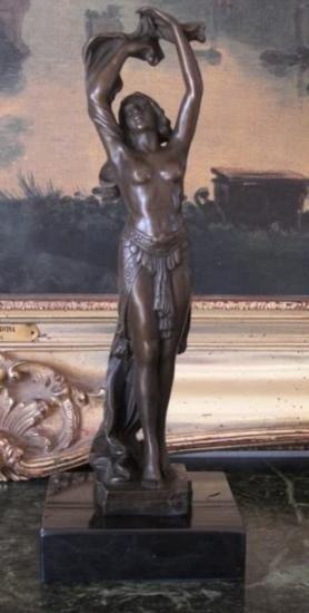 Radient Bronze Sculpture Nude Dancer
