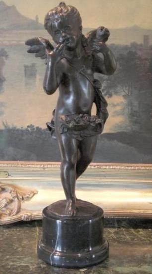Angelic Bronze Sculpture Cupid