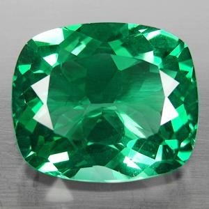 EXQUISITE 30.63 Ct GREEN AMETHYST CUSHION CUT NATURAL G