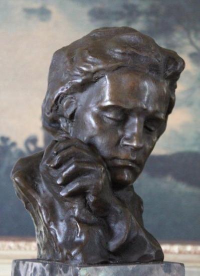 Magnificent Beethoven Bust Bronze Sculpture After Fix