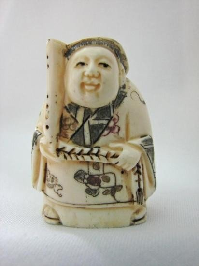 Japanese Ox-Bone Hand Carved Figure