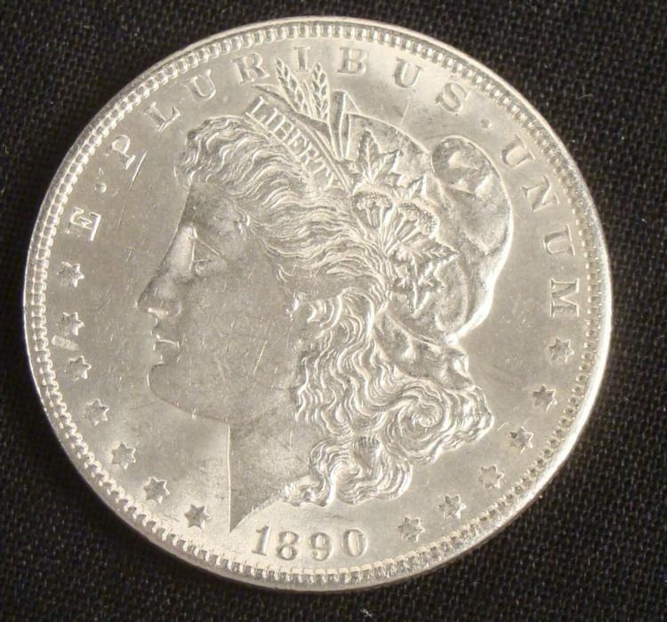 1890-P Hi-Grade Morgan Silver Dollar