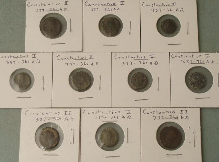 10 Different Ancient Imperial A.D. Roman Coins