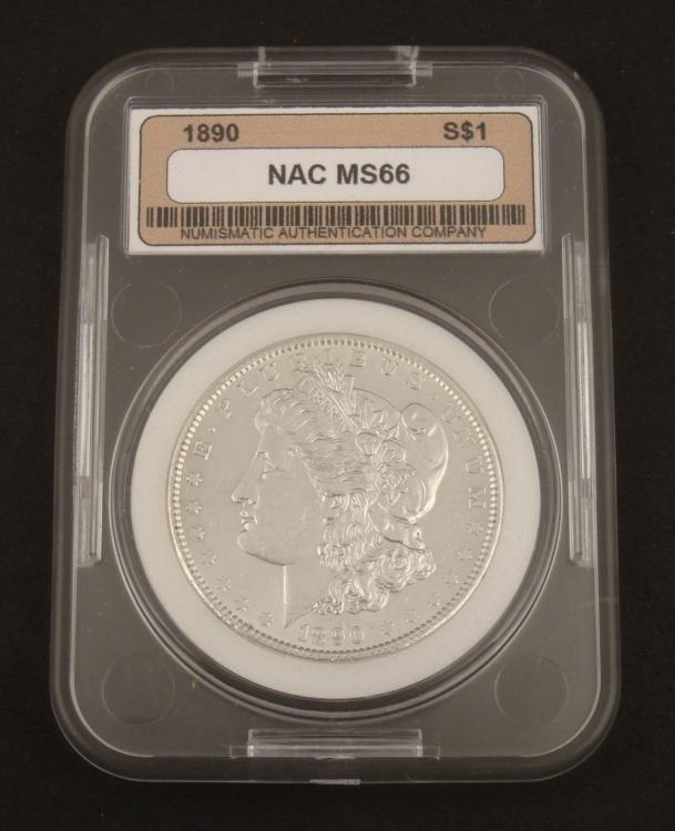 1890-P Morgan Silver Dollar Graded MS66