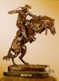 Bronco Buster-Bronze Sculpture By Remington-Fine Recast