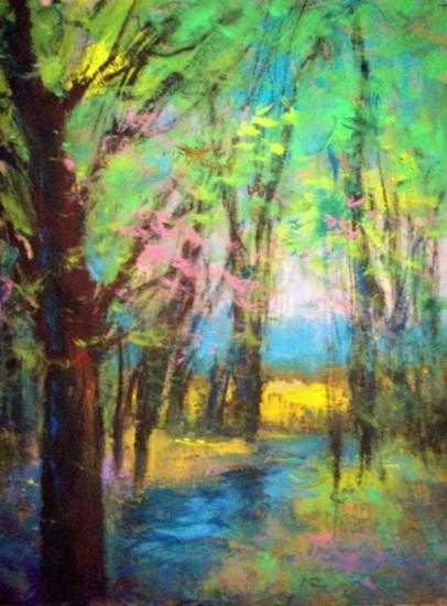 By The Stream By Schofield Oil 24x20