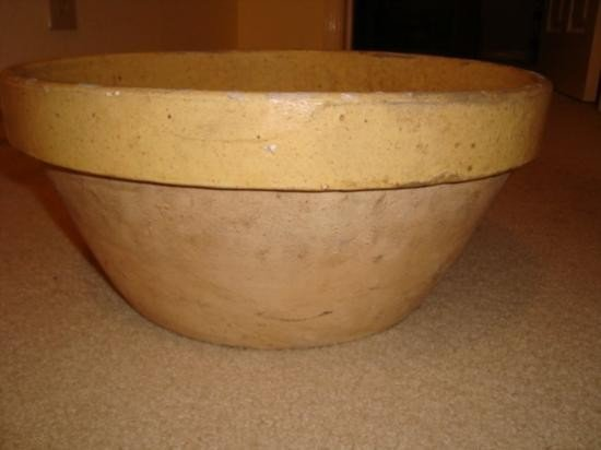 Large French mixing bowl tian late 1800's