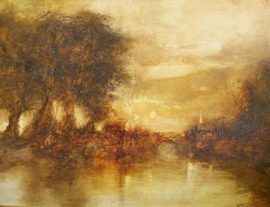 Countryside Original Acrylic By Peter Dunn (English)