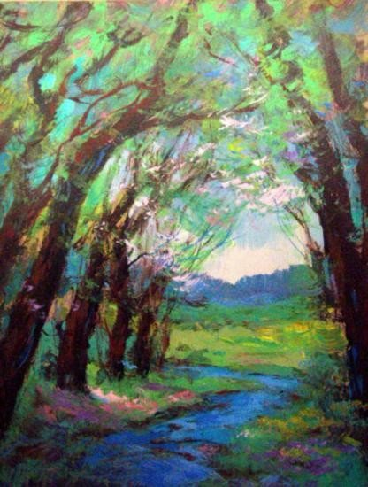 Forest Canopy By Schofield Oil 16x20