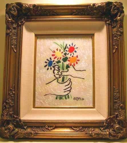 Bouquet by Max Karp-Enamel on Copper
