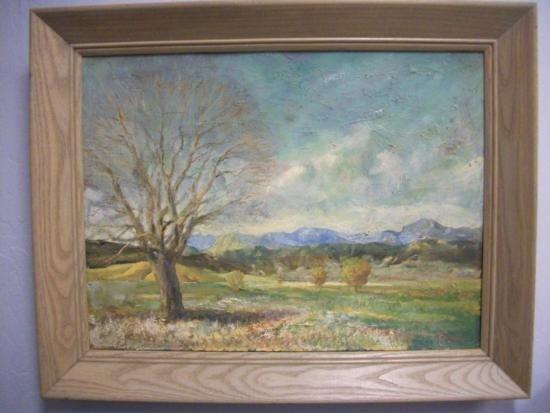 Antique Landscape Painting Signed - E.W. REDFIELD