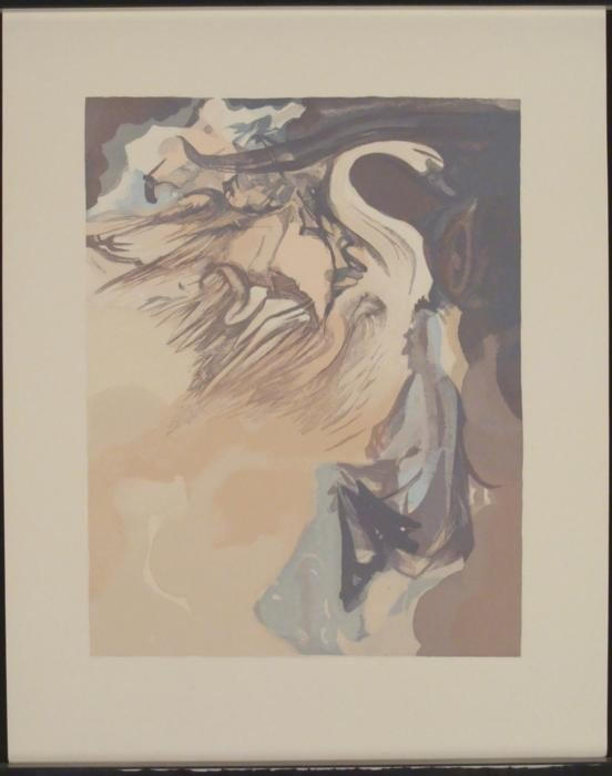 Dali Unique Decomposition Print: Divine Comedy Jupiter