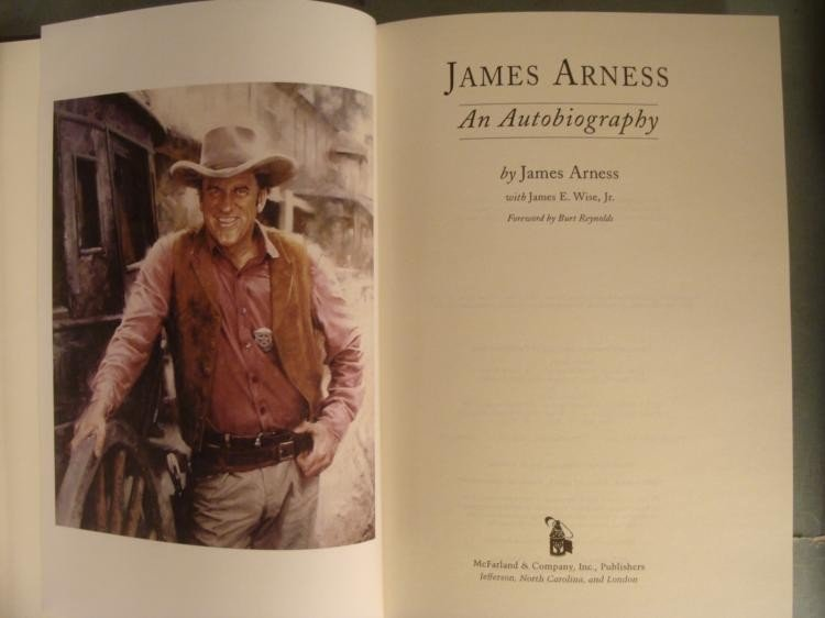 James Arness An Autobiography HC Book James E. Wise, Jr