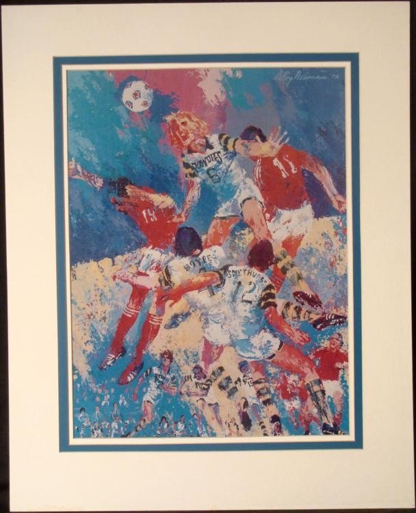LeRoy Neiman Matted Soccer Art Print: Tampa Bay Rowdies