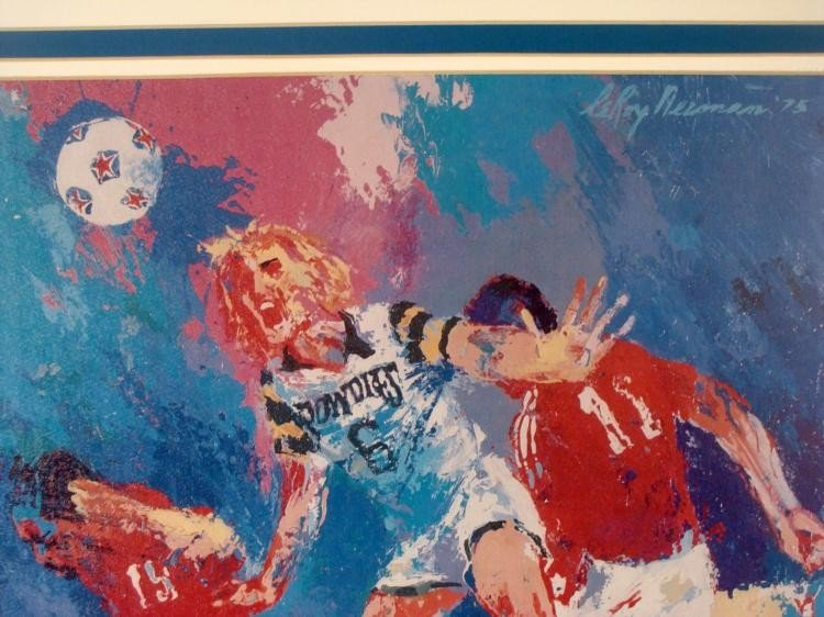 LeRoy Neiman Matted Soccer Art Print: Tampa Bay Rowdies - 2