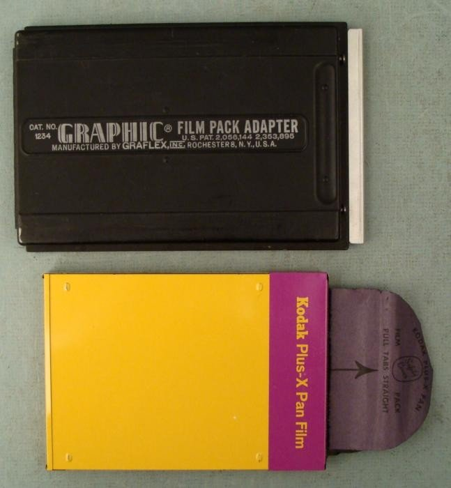 Graphic 4 x 5 Film Pack Adaptor No. 1234 Graflex +Kodak
