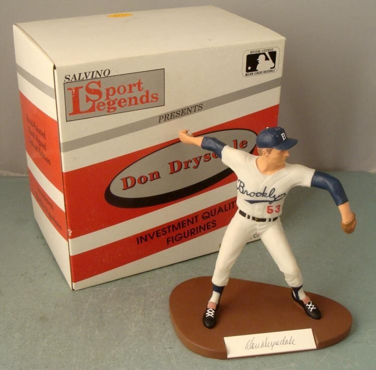 DON DRYSDALE Dodgers SIGNED Salvino Statue Figurine