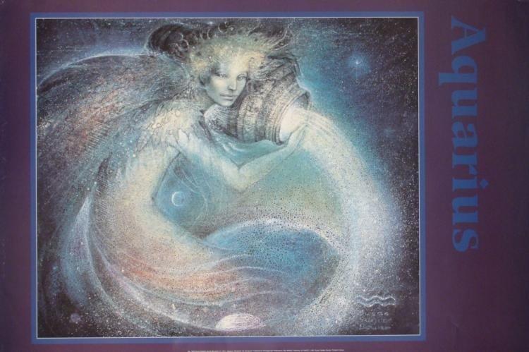 4 Zodiac Posters Aquarius Aries Cancer Capricorn 24x36