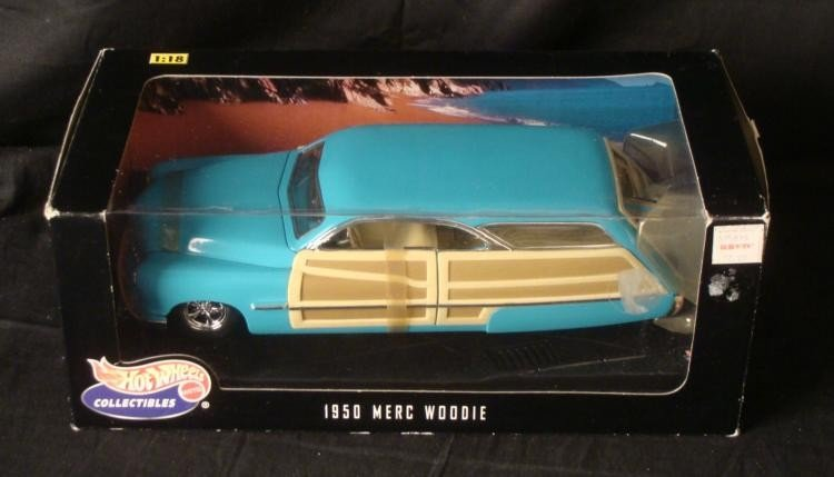 Hot Wheels Collectables 1950 Merc Woodie 1:18 Scale car