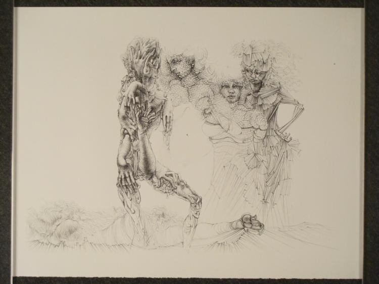 Hans Bellmer Surrealistic Art Print Erotic Nude Woman