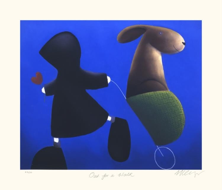 Mackenzie Thorpe 'OUT FOR A WALK' Lithograph