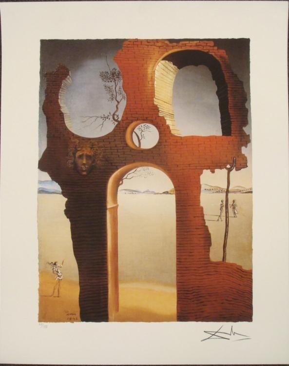 Salvador Dali : Invisible Face Surrealistic Art Print