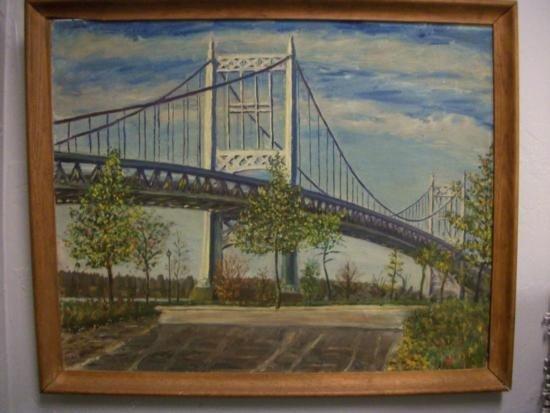 Antique Triborough Bridge (NY) Sgnd - H.E. Schnakenberg