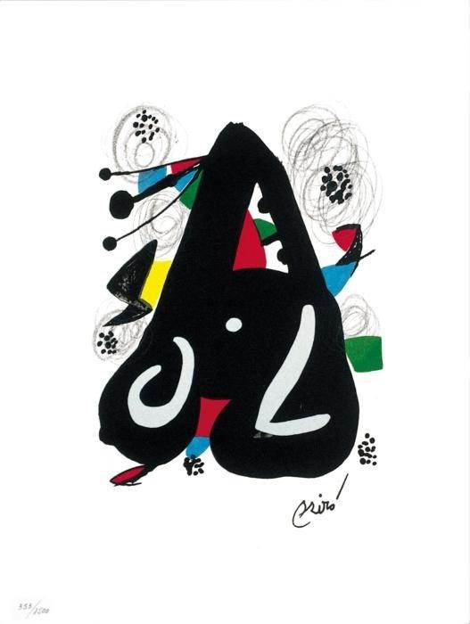 Joan Miro Ltd Ed Print from La Melodie Acide 1980 (9)
