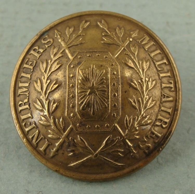 Infirmiers Militaires Antique French Army Button 1914