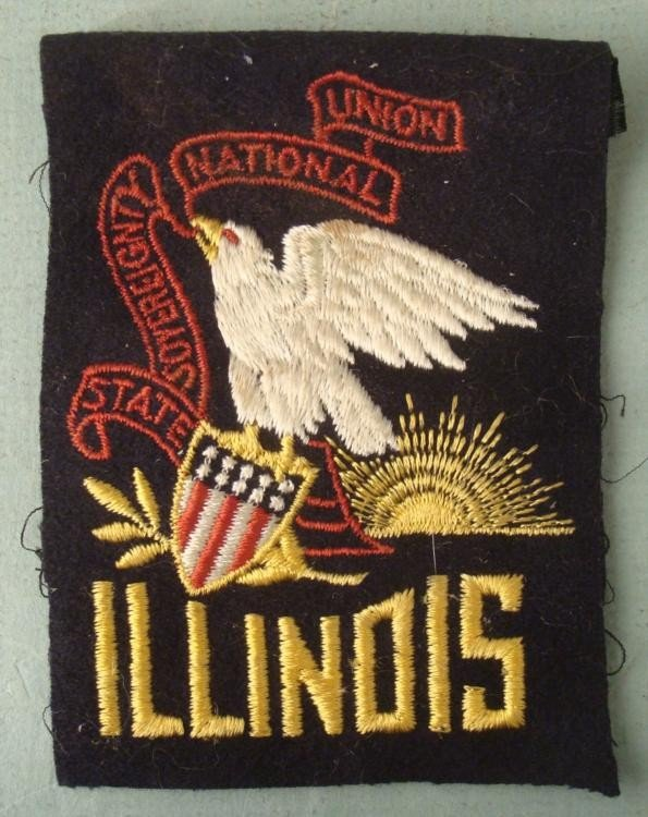 VINTAGE ILLINOIS NATIONAL GUARD PATCH