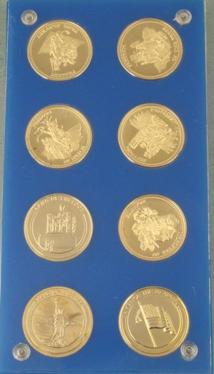 American Freedoms 8 Pc Coin Set in Case