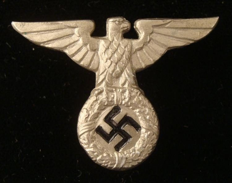 ORIGINAL EARLY NAZI COFFEE CAN CAP EAGLE AND SWASTIKA