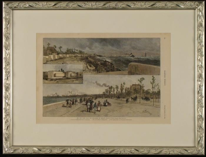 Harpers Cover 1887 Chicago Lake Wall Esplanade Framed