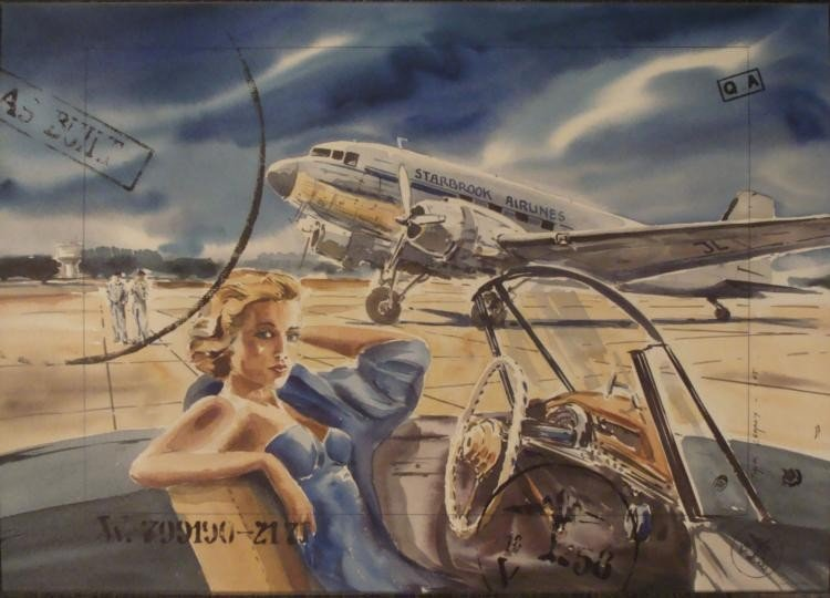 Jack Learoy Art Print Cabdriver Aircraft Planes