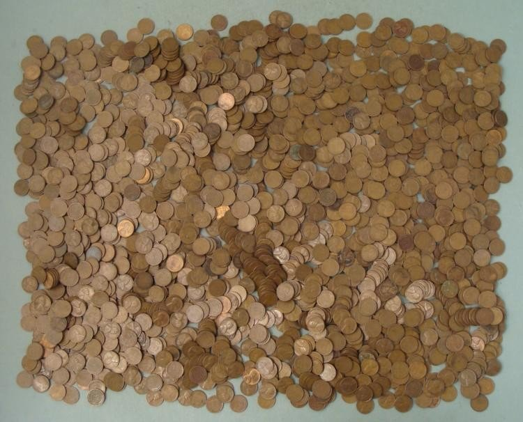 Huge Lot 2,015 Early Wheat Cents Pennies 1940s-50s