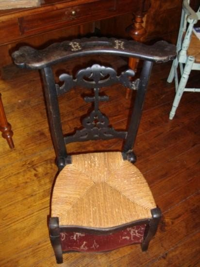 French prayer chair with 2 seats circa 1860