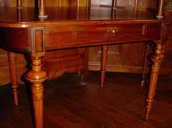 French table with one drawer circa 1850