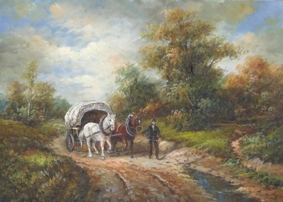 5 x 7 Oil on Board ~ Horse and Carriage ~