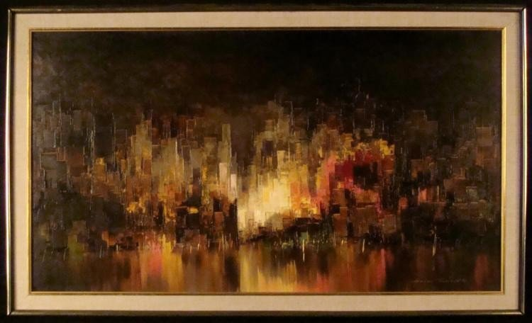 Heinz Munnich Original Abstract Painting New York