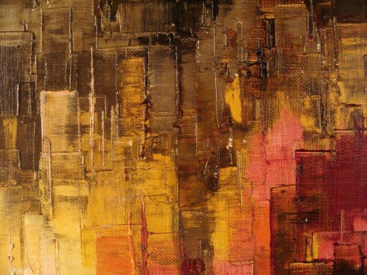 Heinz Munnich Original Abstract Painting New York - 2