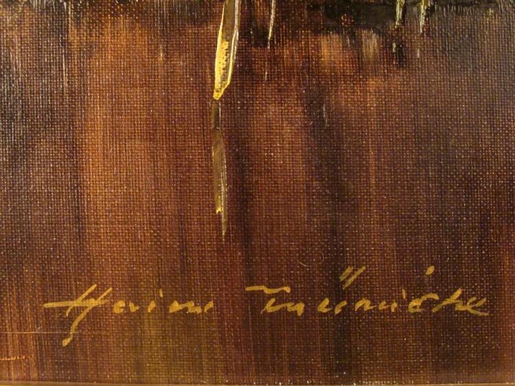 Heinz Munnich Original Abstract Painting New York - 3