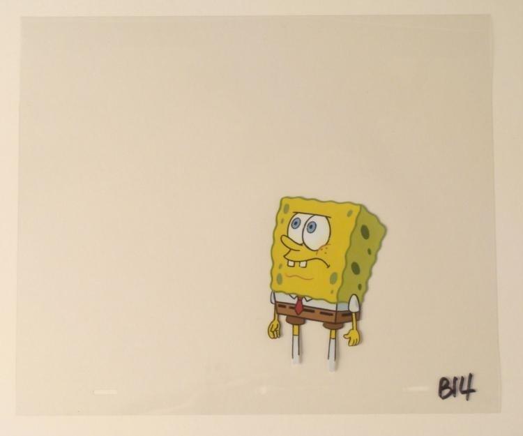 SpongeBob Original Production Art Cel Talking Sponge