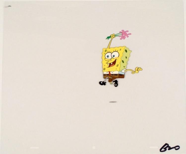 Jump For Joy SpongeBob Original Production Art Cel