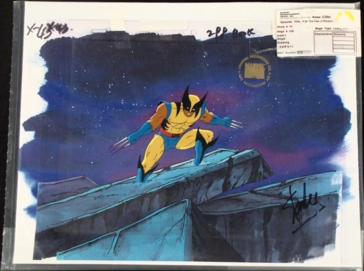 Wolverine X-Men Original Stan Lee Signed Cel Animation